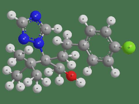 Эмпирическая формула: C16H22ClN3O Группа: Фунгициды Химический класс: Триазолы